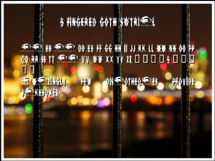 5 Fingered Goth SWTrial Font Preview
