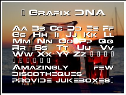 5 Grafix DNA Font Preview