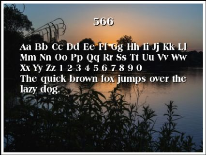 566 Font Preview