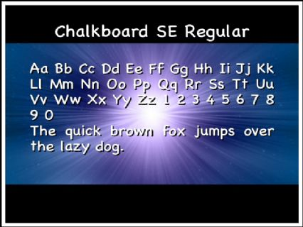 Chalkboard SE Regular Font Preview