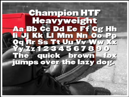 Champion HTF Heavyweight Font Preview