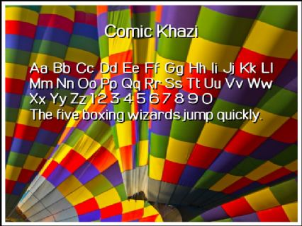 Comic Khazi Font Preview