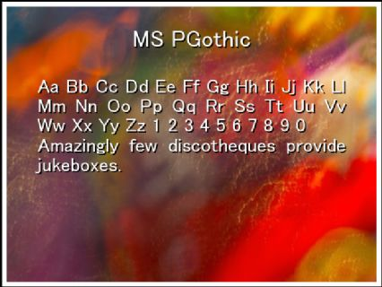 MS PGothic Font