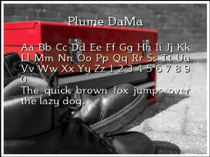 Plume DaMa Font Preview