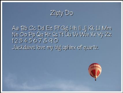 Zipty Do Font Preview