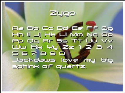 Zygo Font Preview
