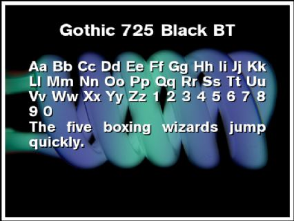 Gothic 725 Black BT Font Preview